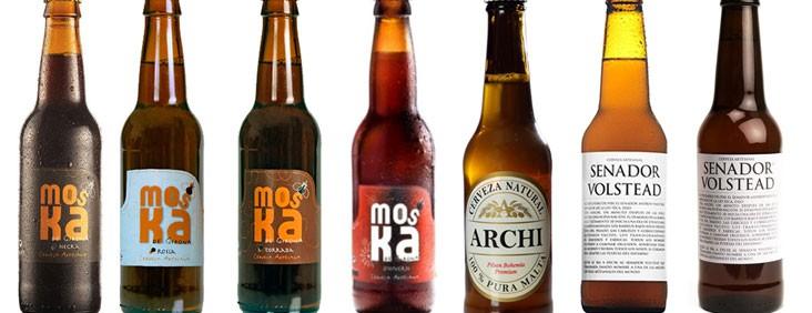 diferentes cervezas artesanas